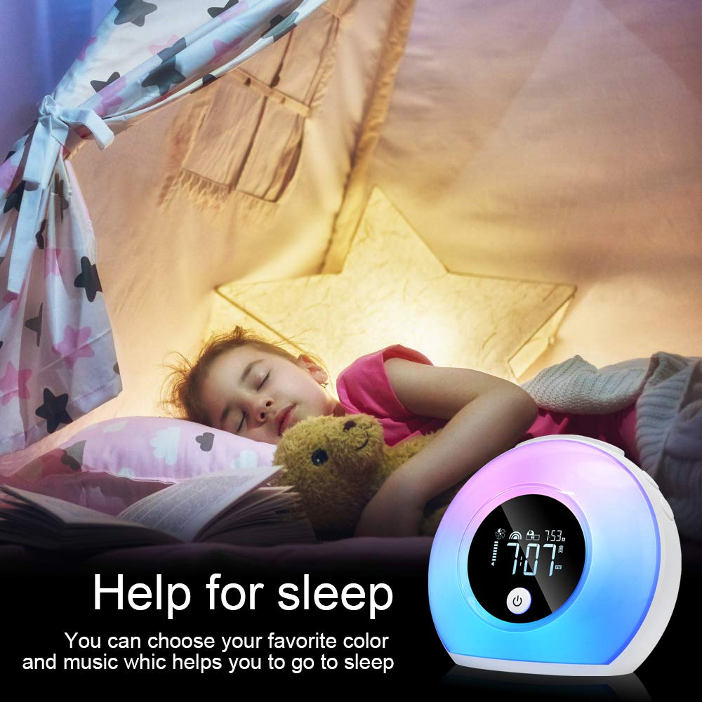 Best selling Bedside LED Night Lamp Alarm Clock with Bluetooth Speaker