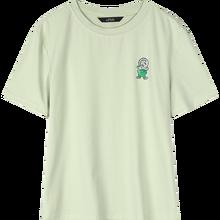 Женская футболка с забавным графическим принтом ELFSACK, зеленая Повседневная футболка в стиле Харадзюку, базовые белые топы в розовом и розов...(China)