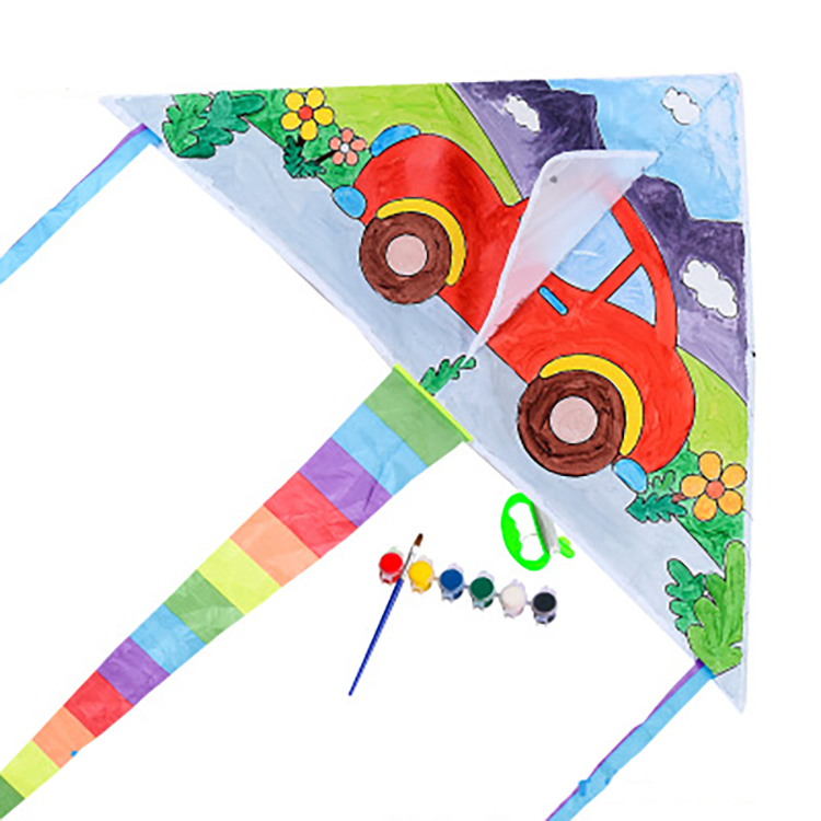 2020 Amazon High Quality DIY Kite Toys For Kids Outdoor Toys Hand Drawing DIY Colorful Handmade Graffiti Kite