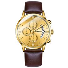 GUANQIN мужские часы, мужские часы, люксовый Известный Топ бренд, мужские Модные Повседневные часы под платье, военные кварцевые наручные часы ...(Китай)