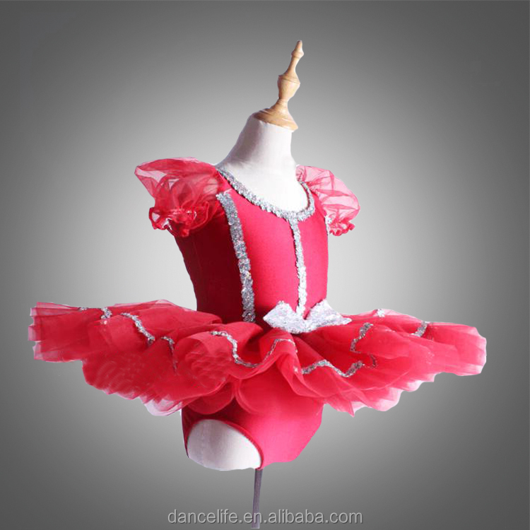 DL065 red dance dress patterns girls lyrical dance costume dress