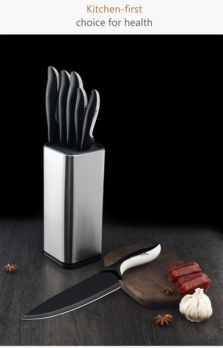 Multifunction 8 inch Knives Block Univers Storage Organizer Stainless Steel and Plastic Kitchen Knife Holder