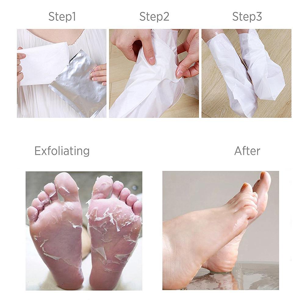 Soft Touch Foot Peel Mask, Exfoliating Callus Remover (2 Pairs Per Box) exfoliating foot peel mask