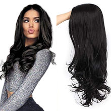 Уличные женские натуральные волнистые волосы Синтетические Высокая плотность термостойкий парик вьющиеся волосы температура Волнистые К...(Китай)