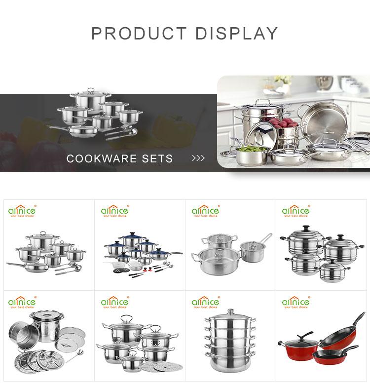 Высокое Качество Товары для дома 3 шт наборы посуды из нержавеющей стали со стеклянной крышкой для продажи