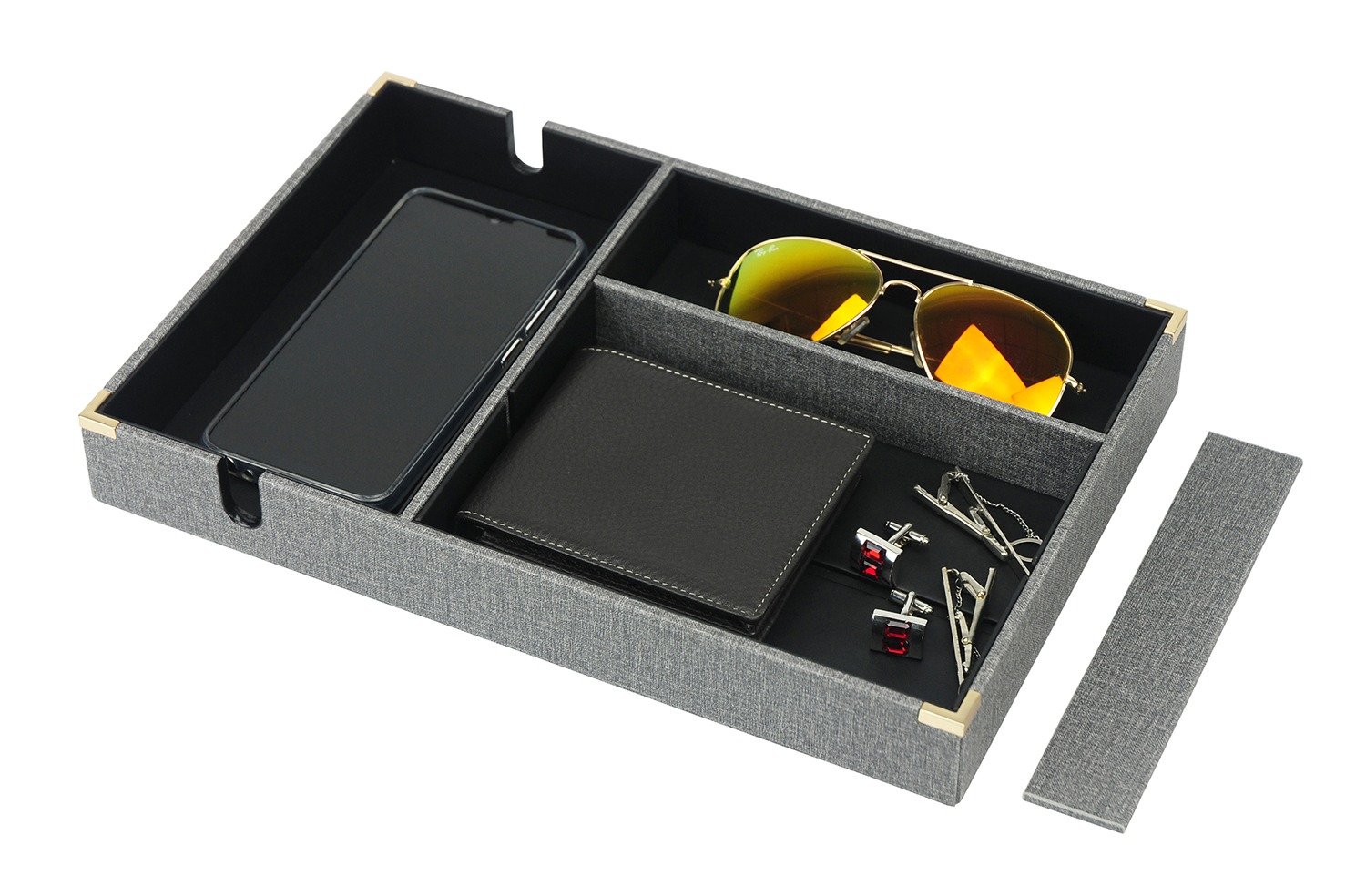 Watch Shop Display Holder Tray 18 Capacity Pu Leather  Customized Watch Tray Display