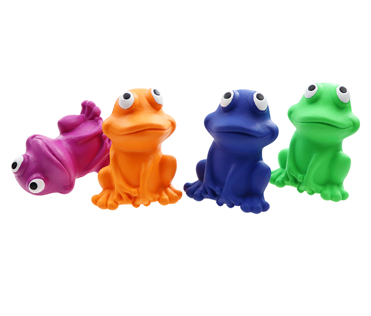 rubber dog  toy   Rubber indestructible frog toy manufacturers custom rubber toys