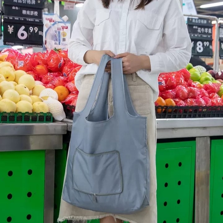 Selling 420D polyester ripstop oxford folding shopping bags for shop