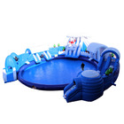 Ice World Inflatable Snow Slide With Inflatable Swimming Pool Water Park For kids and adults