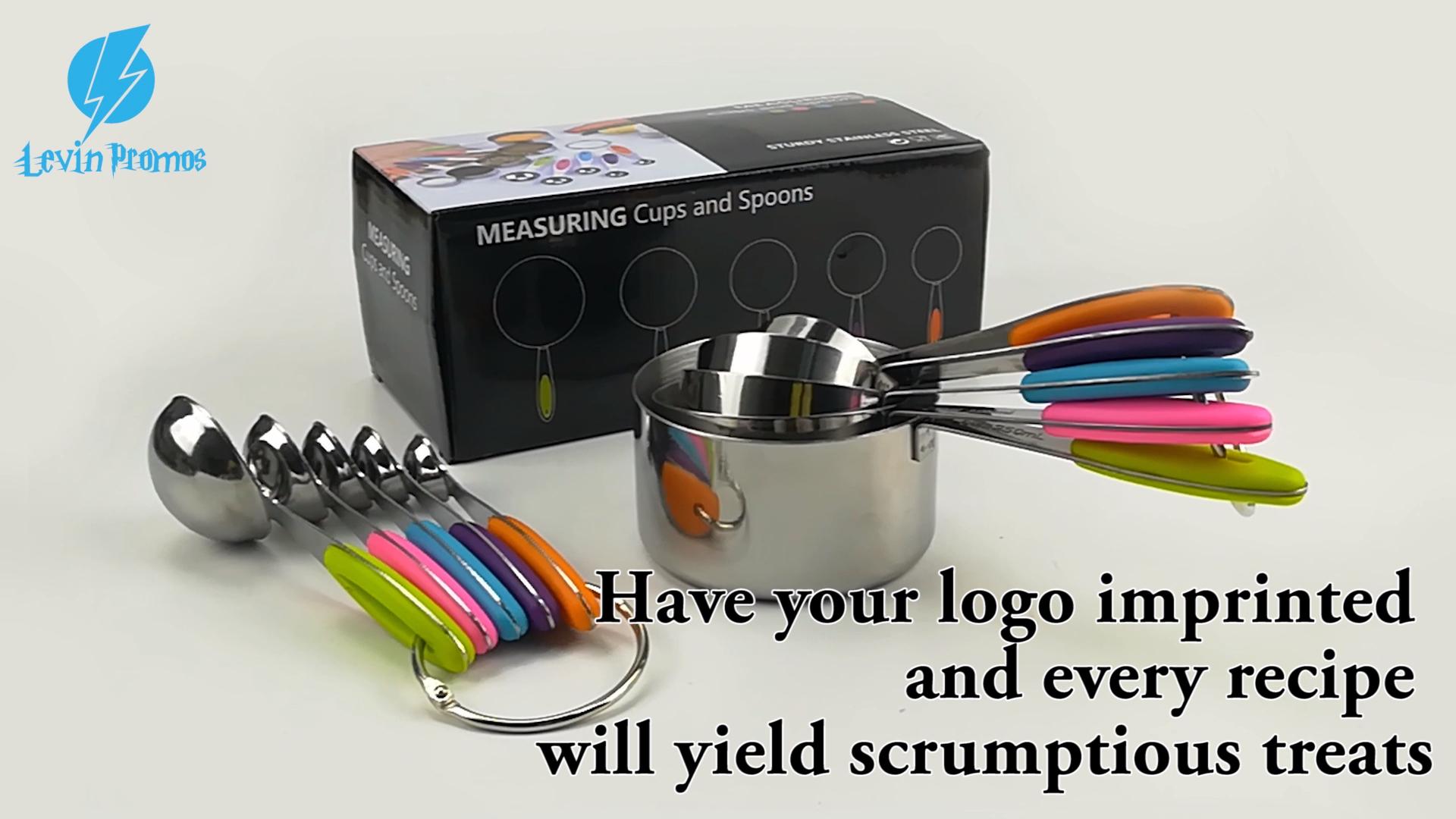 10 adet/takım özel mutfak ayarlanabilir Metal paslanmaz çelik ölçme bardak ve kaşık