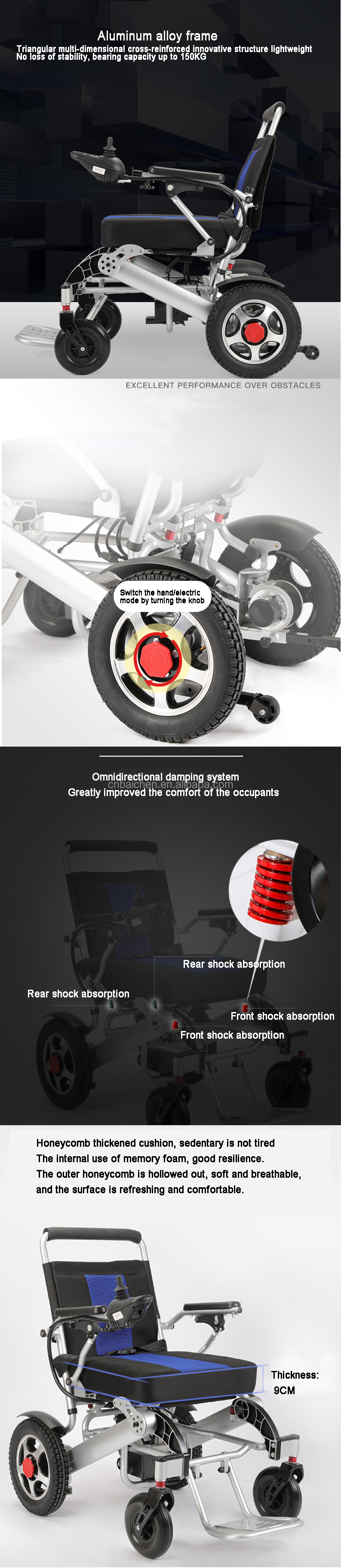 Hot design medical folding wheelchair tires wheelchair electric handcycle for wheelchair
