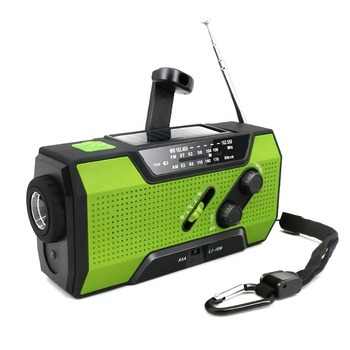 MD-090 Emergency Mini Portable Am Fm Radio with Hand Crank & Solar Charging