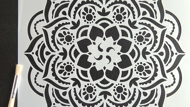 Reusable Floor wall Tiles Fabric Glass Airbrush Painting Stencil