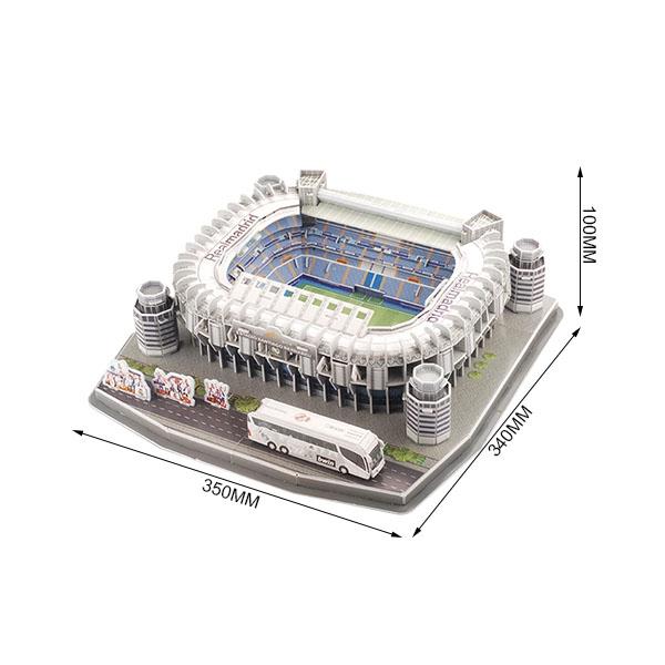 Stade Santiago Bernabeu 3D Puzzle usine fait sur commande à la main sculpté 3d résine miniature modèle de stade De Souvenir Touristique