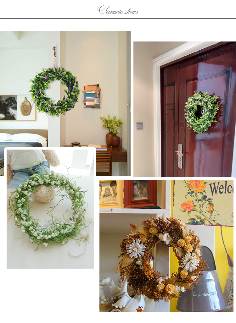Wholesale Topiary Christmas Easter Artificial Decorative Flowers Wreath