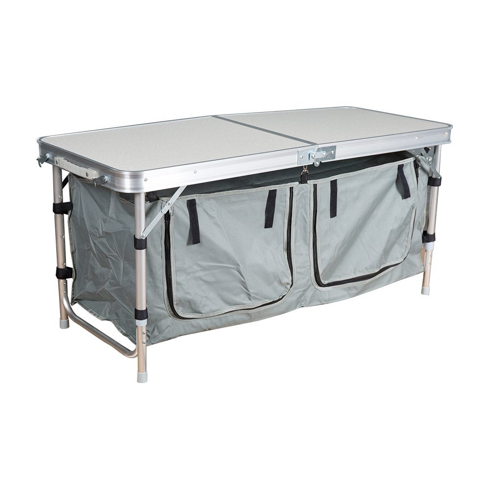 <strong>Folding</strong> Camp Table Portable Aluminum Outdoor Tables with Storage Bag for Camping, Picnic, Backyards, BBQ