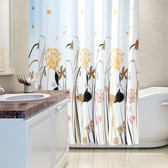 Thiết Kế Tùy Chỉnh Phòng Tắm Không Thấm Nước In Shower Curtain Nhà Máy Giá Rẻ Cho Khách Sạn Và Nhà Phòng Tắm Vòi Sen Cutains