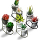 FREE express shipping Modern Small Metal Flower Pot Holder Succulent Plant Pots Stand Sets