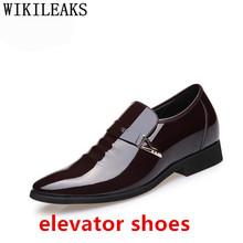 Мужские модельные туфли с заостренным носком, дизайнерские черные модельные туфли из лакированной кожи, свадебные модельные туфли, оксфорд...(China)