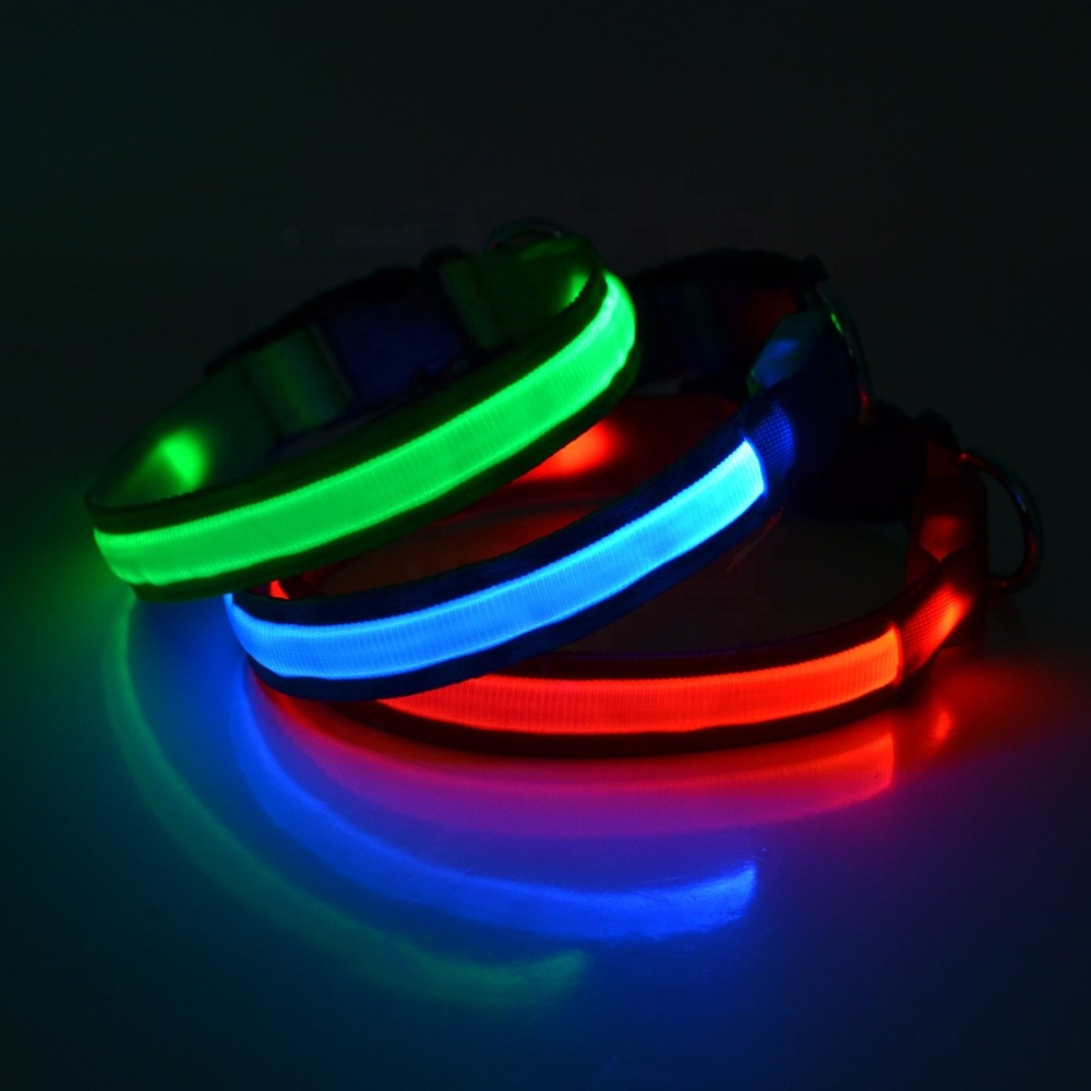 2019 China wholesale customized led dog collar pet accessories dog led collar