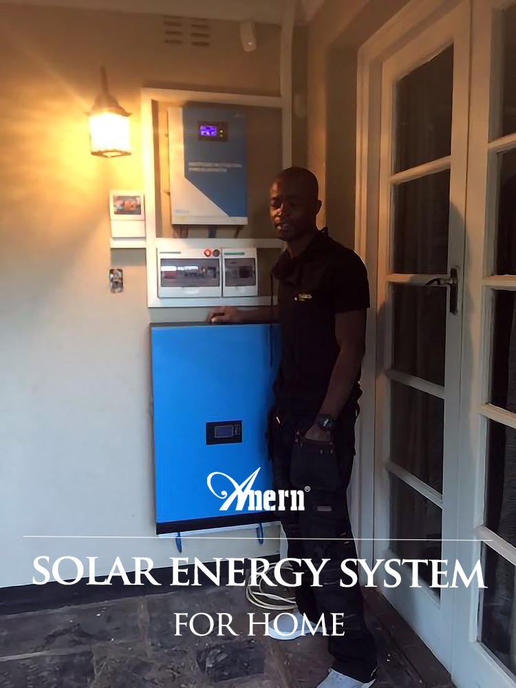 Smart battery charge solar inverter and panels