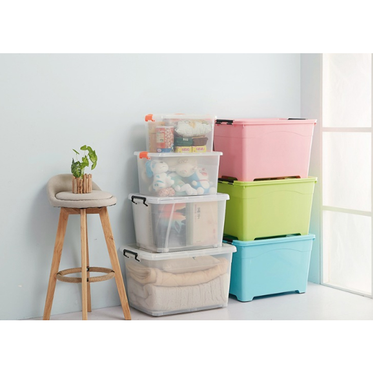 Chinese Supplier High Quality Plastic Household Large Clear Plastic Storage Box, Plastic Storage Bins Box