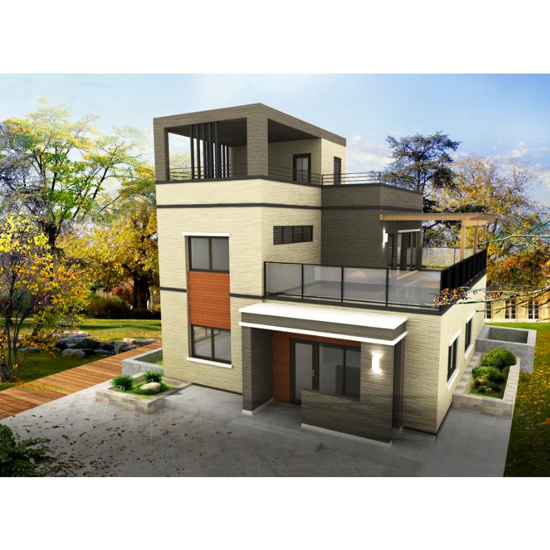 Luxus design doppel geschichte villen ALC panel villa haus für verkauf