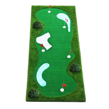 Portable Mini Golf Course Golf Putting mat for office