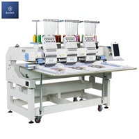 BAI 1000rpm 3 head 12 needles computer embroidery machine for cap flat t-shirt shoe embroidery