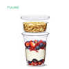 12oz disposable transparent to go Jello Pudding Ice Cream plastic yoghurt cup PET