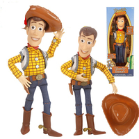 Pixar Story 4 Talking Woody Jessie Buzz Lightyear Bo Peep Doll Action Figures Collectible Model Toys QTA-2062