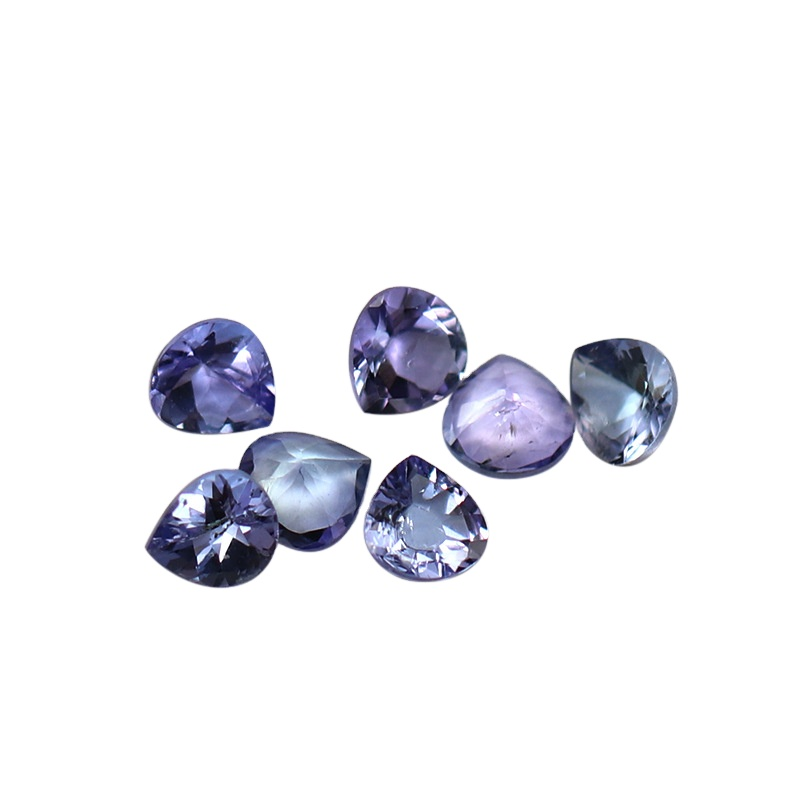 Kahkashan Jewelry Natural Tanzanite Purple Loose Stone Jewelry Making 4*4mm Heart cut for Jewelry Making For Wholesales