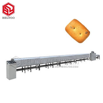 Wheat and cream biscuits baking oven bescuit Ground biscuit baking machine line biscuit tunnel oven