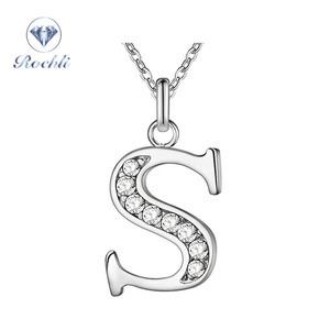 Fashion Custom Jewelry Letter ''S'' Pendant Jewelry Silver Necklace Silver 925