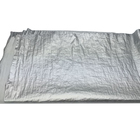Crinkle nylon taffeta fabric with silver shimmer , silver foil fabric for jacket