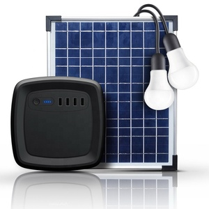 off grid solar home lighting system 12w solar panel with 2 led lights solar light for rural area