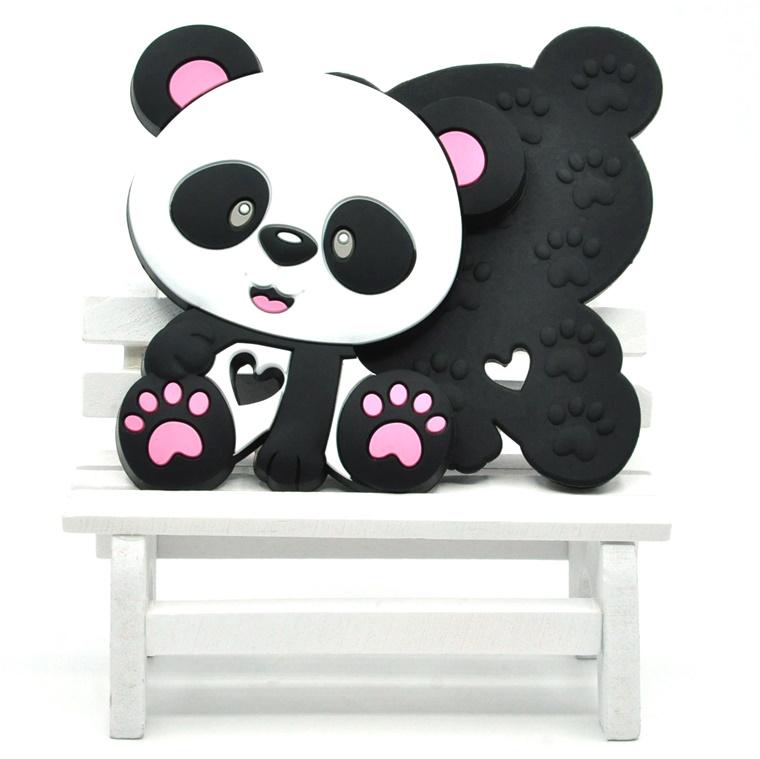 Silicone Teething Pendant Chewing Animal Panda Baby Silicone Teether