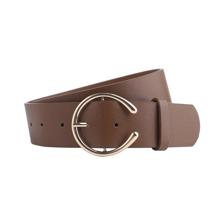 Fashion Leather Belt for Jeans C Buckle Women Belts