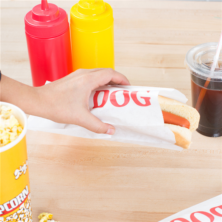 Disposable food hot dog paper bag for packaging
