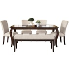 Dingzhi solid wood rectangular table for six