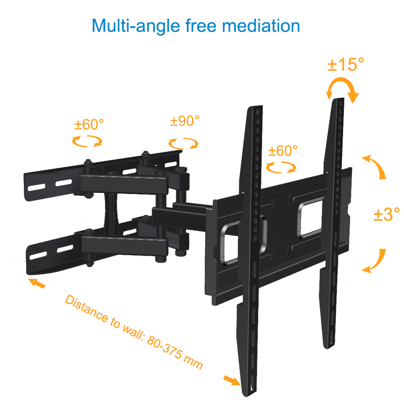 "PB-600M Max VESA 400x400 Heavy Duty Retractable TV Bracket for 23""-60"" TV"