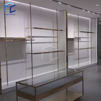 Garment small retail ladies clothes shop design department clothing store furniture