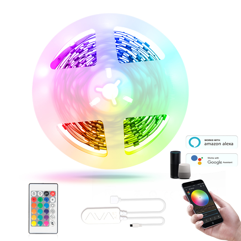 Amazon Smart Colourful Music Led Room Light Tiras Led Sound Control Led Strip