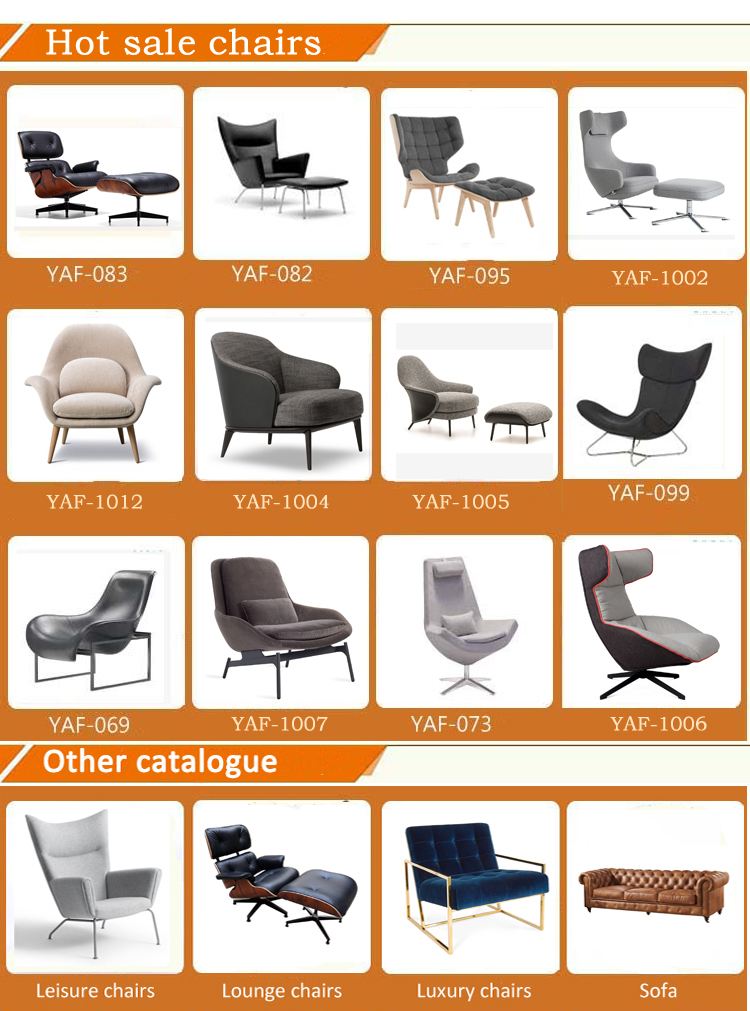 Customizable genuine leather single seat accent living room home furniture luxury lounge sofa chair leisure chair