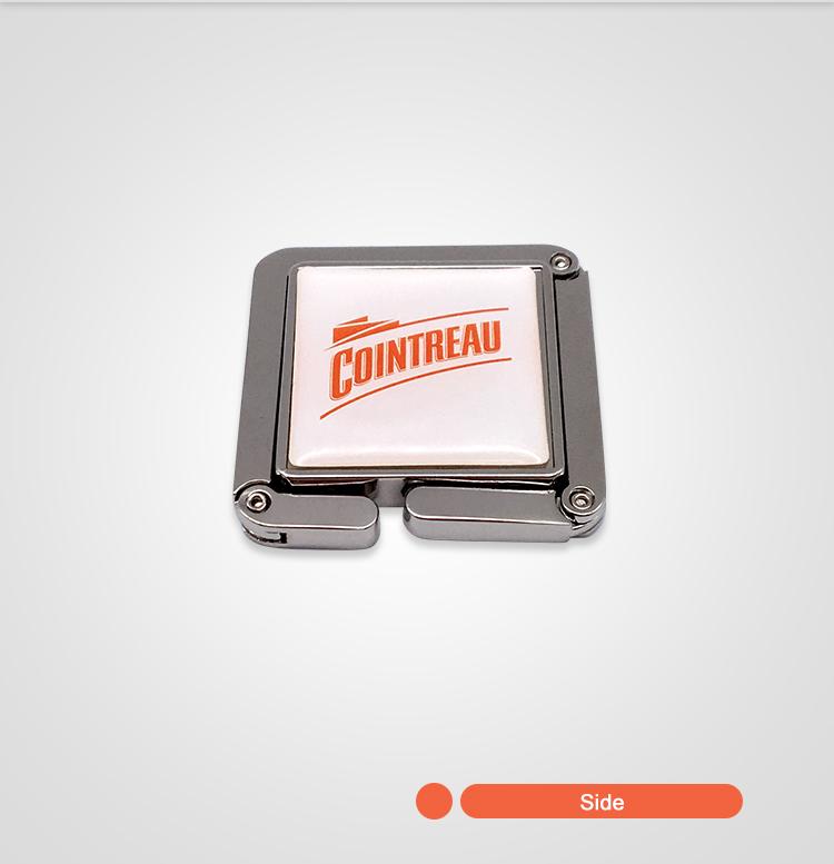 2019 лучшие продажи сплава железа портативный стол крюк кошелек сумочка вешалка с логотипом