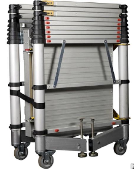 Multi Purpose 20 steps Scaffold aluminum telescopic tower ladder for construction