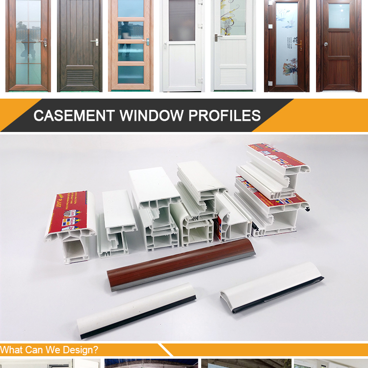 China Factory Stock Supply Plastic windows Profile Upvc Casement Door Windows Frames Material 2.5mm Thickness UPVC Window Frame