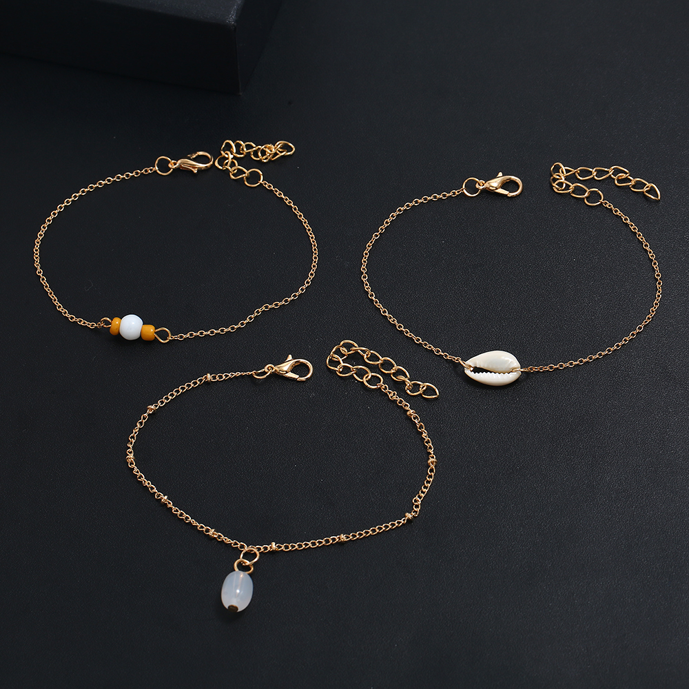 Fashion gold shell anklet For Women Wholesale N910142