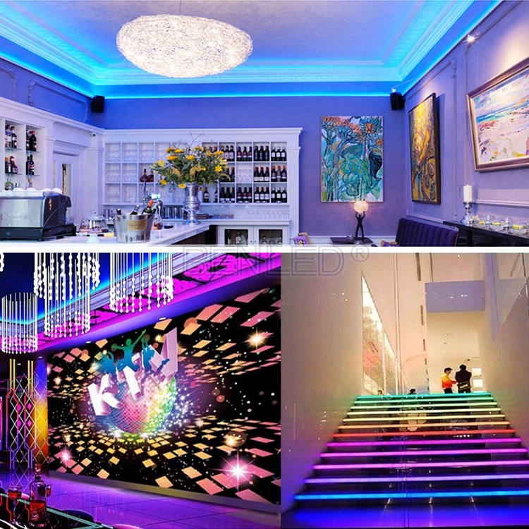 Full color ws2811 digital led strip waterproof black light pcb 5V ip65 led light strip ws2811 indoor 12v waterproof ip65