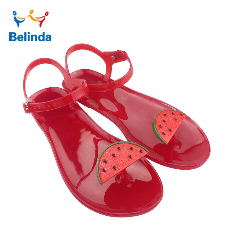 Comfortable Summer Lady Plastic Fruit Sandals Wholesale Woman Jelly Shoes